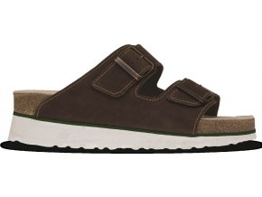 BENNON BROWN BEAR Heel Slipper sandál korkový hnědý (Velikost/varianta 42)