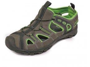 DULOE sandál šedo-zelené (Velikost/varianta 46)