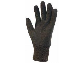 NOE rukavice teplákovina hnědá (Velikost/varianta 10)
