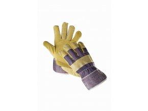 TERN LIGHT HS-01-004 rukavice kombinované modrá-žlutá (Velikost/varianta 10)