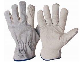 07131 BADOGLIO celokožené rukavice bílé (Velikost/varianta 11)