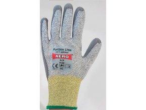 AERO PURTSKIN 1784 rukavice protipořezové CUT 5 máčené v polyuretanu šedé (Velikost/varianta 11)