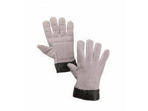 TEMA rukavice antivibrační hovězí štípenka šedé (Velikost/varianta 10)