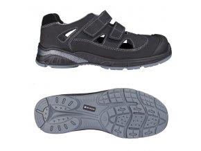 RUSH S1P pracovní sandál černý (Velikost/varianta 48)