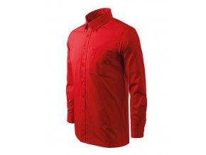 Style LS košile pánská červená