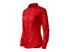 Style LS košile dámská červená