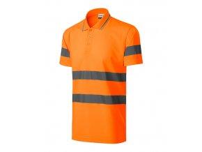 HV Runway polokošile unisex reflexní oranžová
