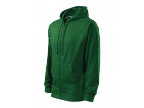 Trendy Zipper mikina pánská lahvově zelená