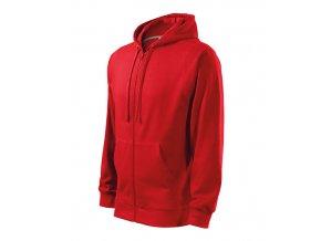 Trendy Zipper mikina pánská červená