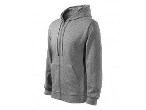 Trendy Zipper mikina pánská tmavě šedý melír