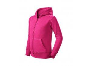 Trendy Zipper mikina dětská purpurová