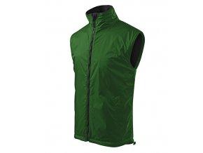 Body Warmer vesta pánská lahvově zelená
