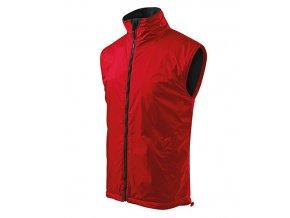 Body Warmer vesta pánská červená