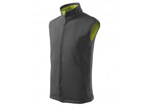 Vision softshellová vesta pánská ocelově šedá