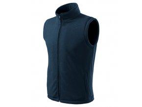 Next fleece vesta unisex námořní modrá