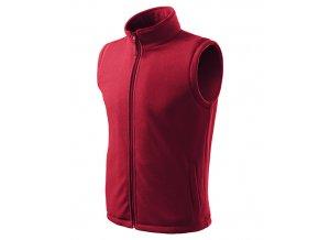 Next fleece vesta unisex marlboro červená