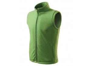 Next fleece vesta unisex trávově zelená