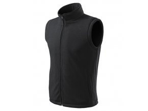 Next fleece vesta unisex ebony gray