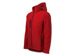 Performance softshellová bunda pánská červená