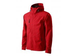 Nano softshellová bunda pánská červená