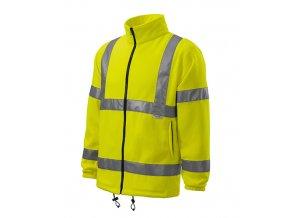 HV Fleece Jacket fleece unisex reflexní žlutá