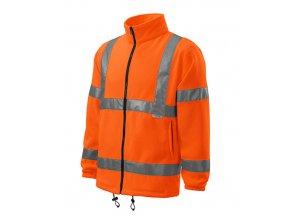 HV Fleece Jacket fleece unisex reflexní oranžová