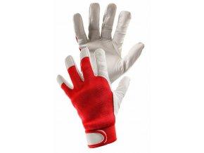 MECHANIK LUX rukavice kozinková lícovka červená, modrá