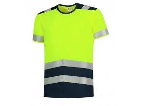 T-Shirt High Vis Bicolor tričko unisex fluorescenční žlutá