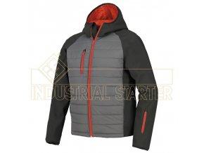 BONNY softshellová bunda černo/šedá (Velikost/varianta 3XL)