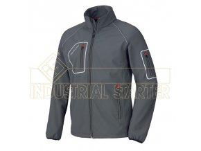 JUST softshellová bunda šedá (Velikost/varianta 3XL)