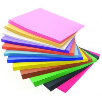 Barevné papíry v bloku