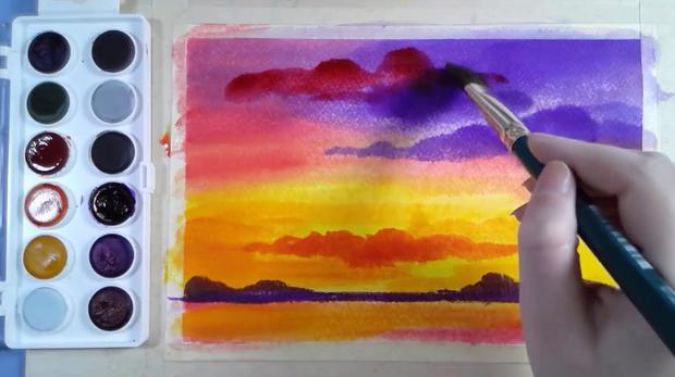 Vodové barvy - anilinky