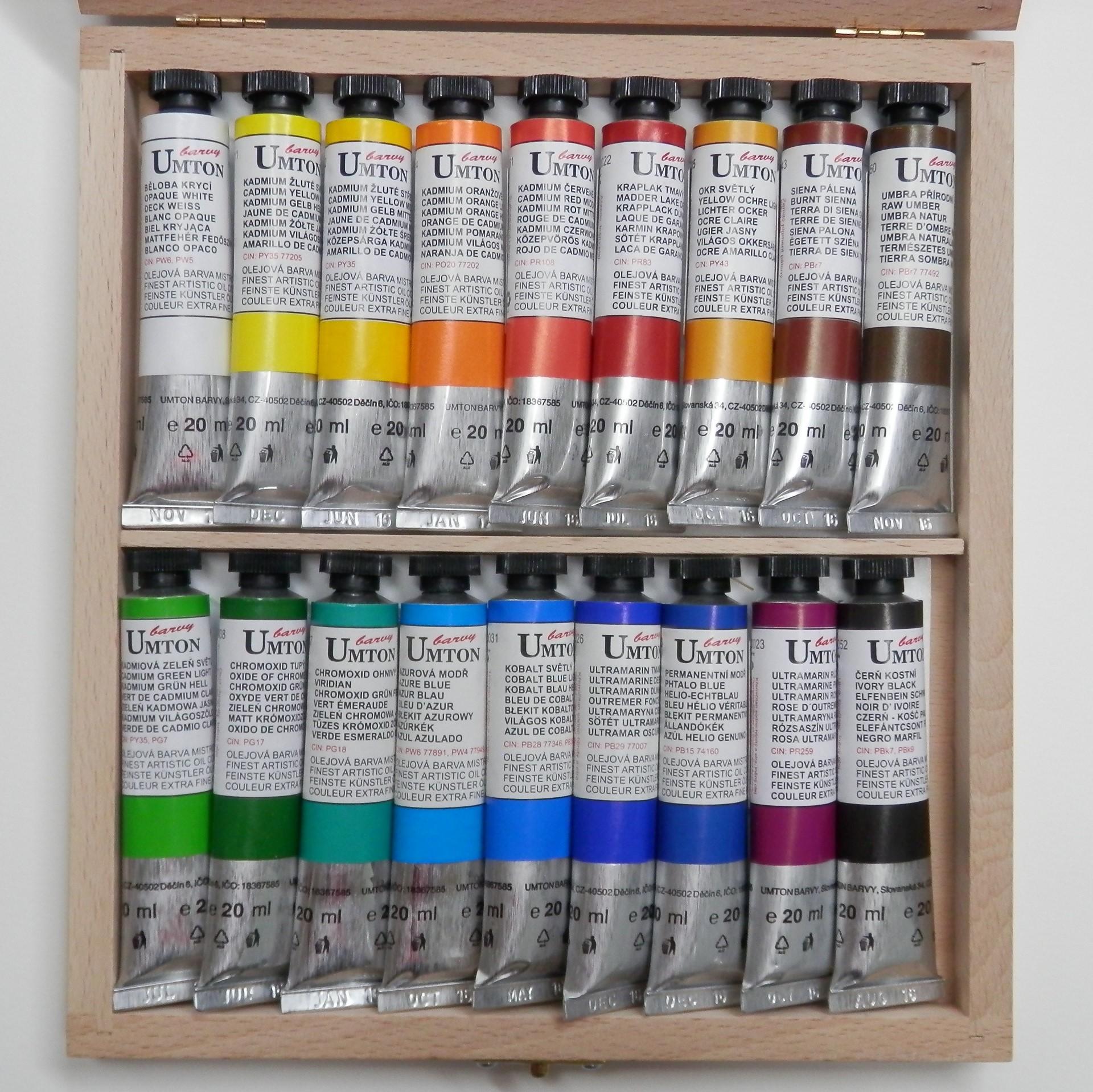 Olejové barvy - sady