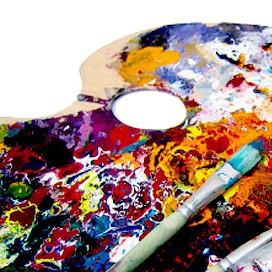 Malířské palety, kelímky