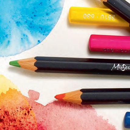 Pastelky akvarelové