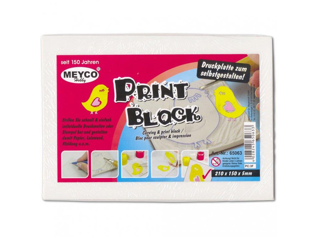 Blok na vyřezávání razítek 5 mm zn. Meyco