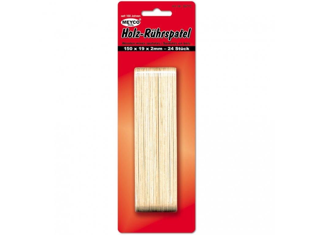 Dřevěné špachtle150x19x2,0 mm 24 ks