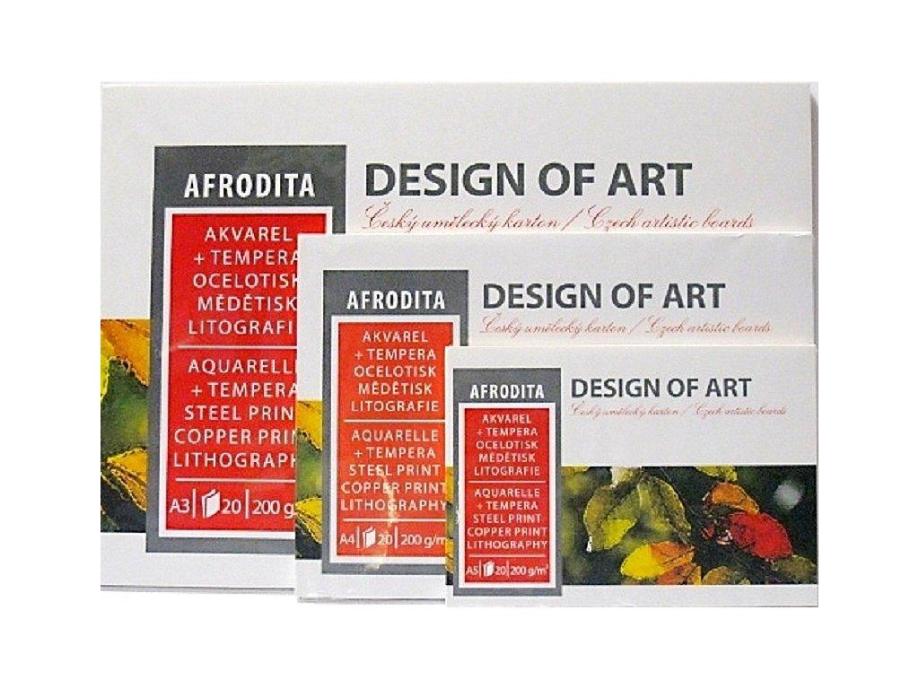 Blok  Afrodita 200g/m² - A4