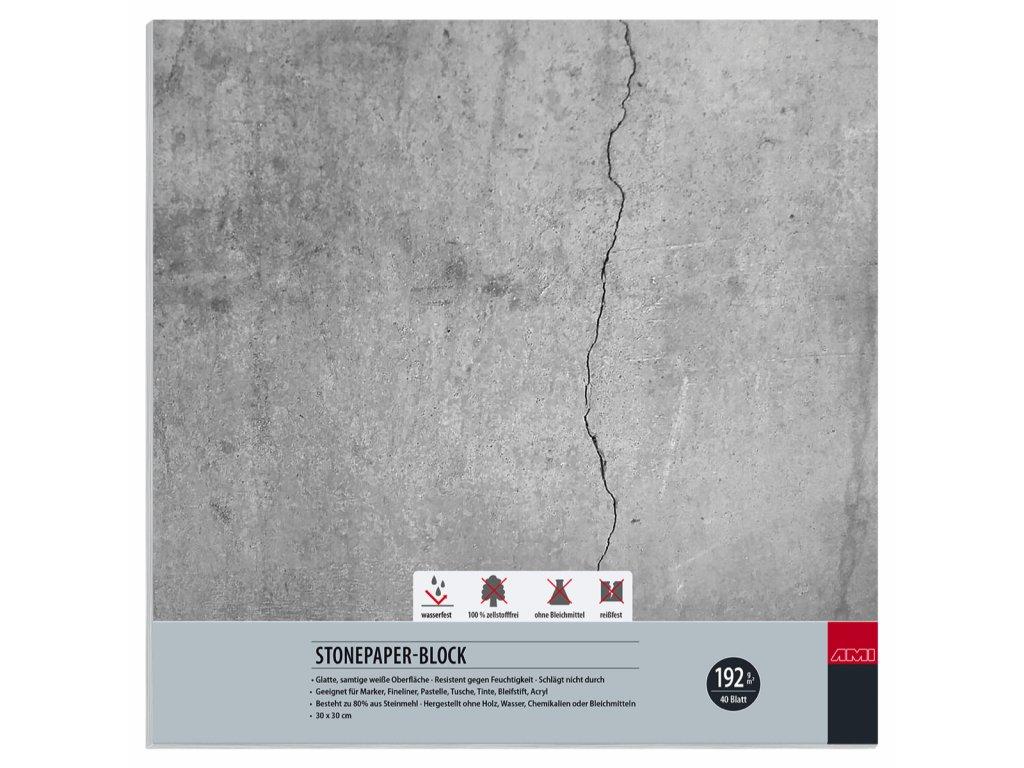 Kamenný blok 192 g / m², 30x30 cm zn. Ami
