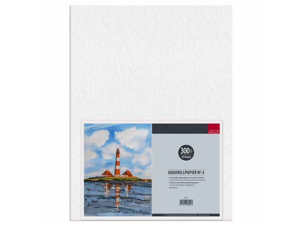 Akvarelový blok No.4 zn. Ami 300g/m² 20x30 cm