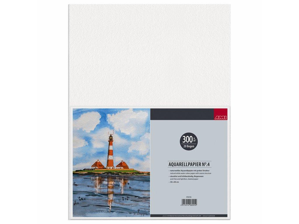 Akvarelový blok No.4 zn. Ami 300g/m² 30x40 cm