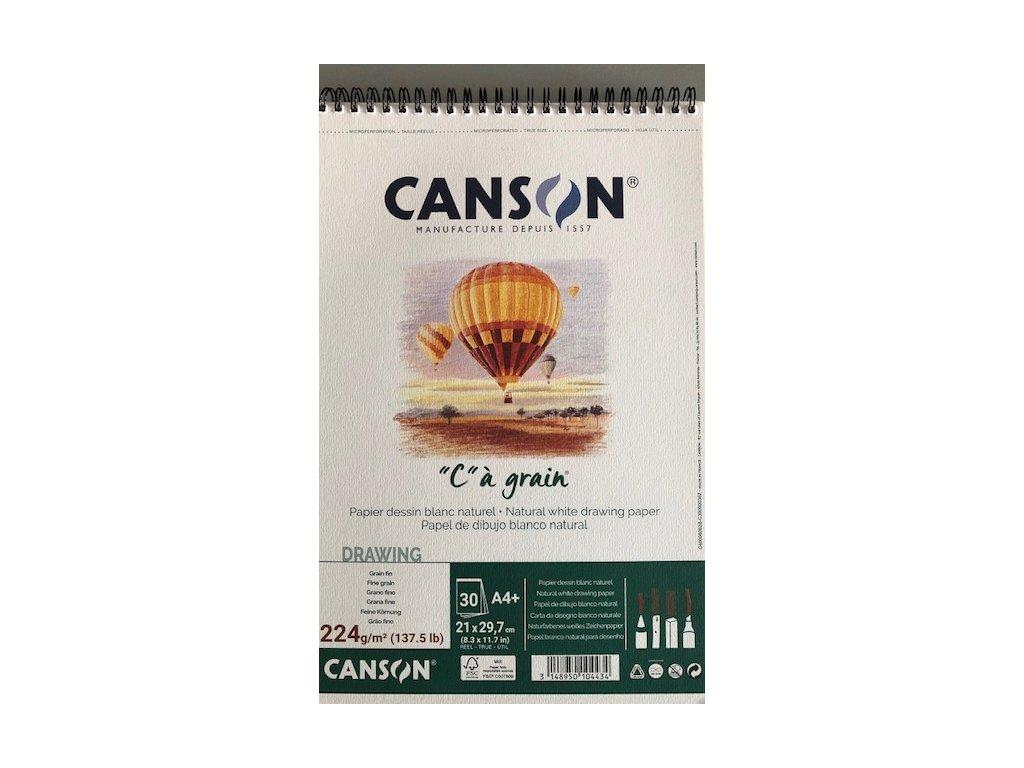 """""""C"""" a grain skicák krouž.vazba Canson A 4 224 g/m²"""