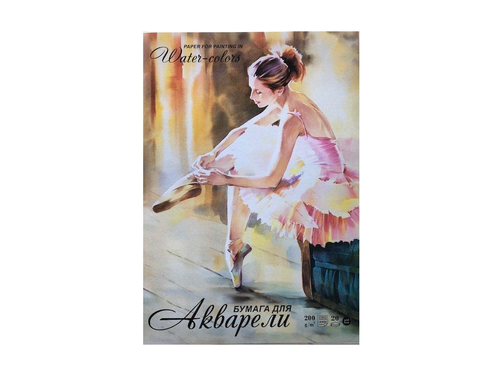 Akvarelové listy zn. liliya 200 g/m², A2
