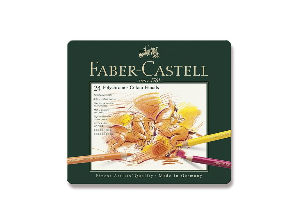 Sada uměleckých pastelek Faber-Castell Polychromos 24 ks