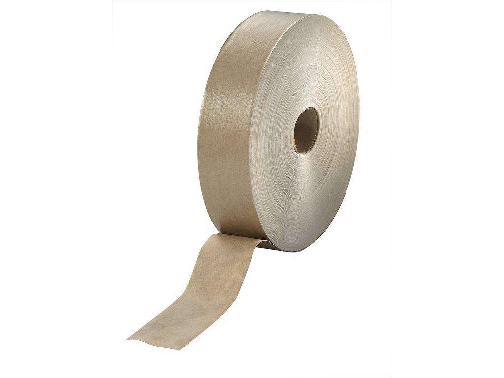 Lepící zakrývací páska papírová - hnědá -  40 mm x 100 m