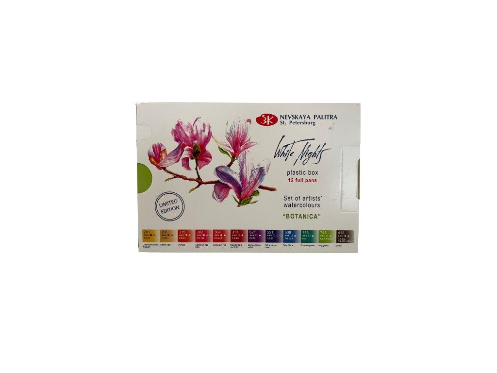 Akvarelové barvy  set 12 ks Botanica zn Nevskaya Palitra