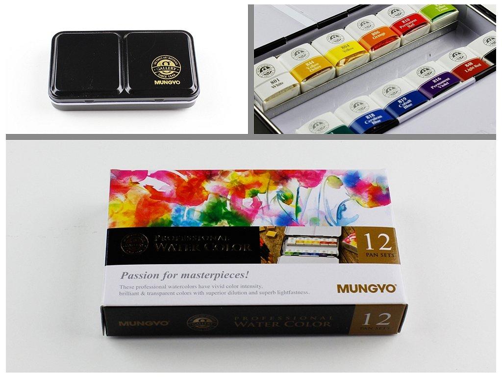 Akvarelové barvy Mungyo - Passion for masterpieces