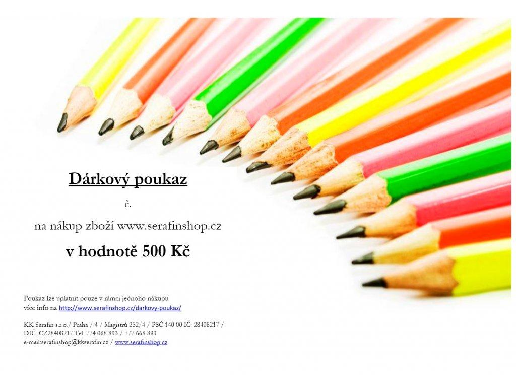 DC pastelky 500 Kč 1
