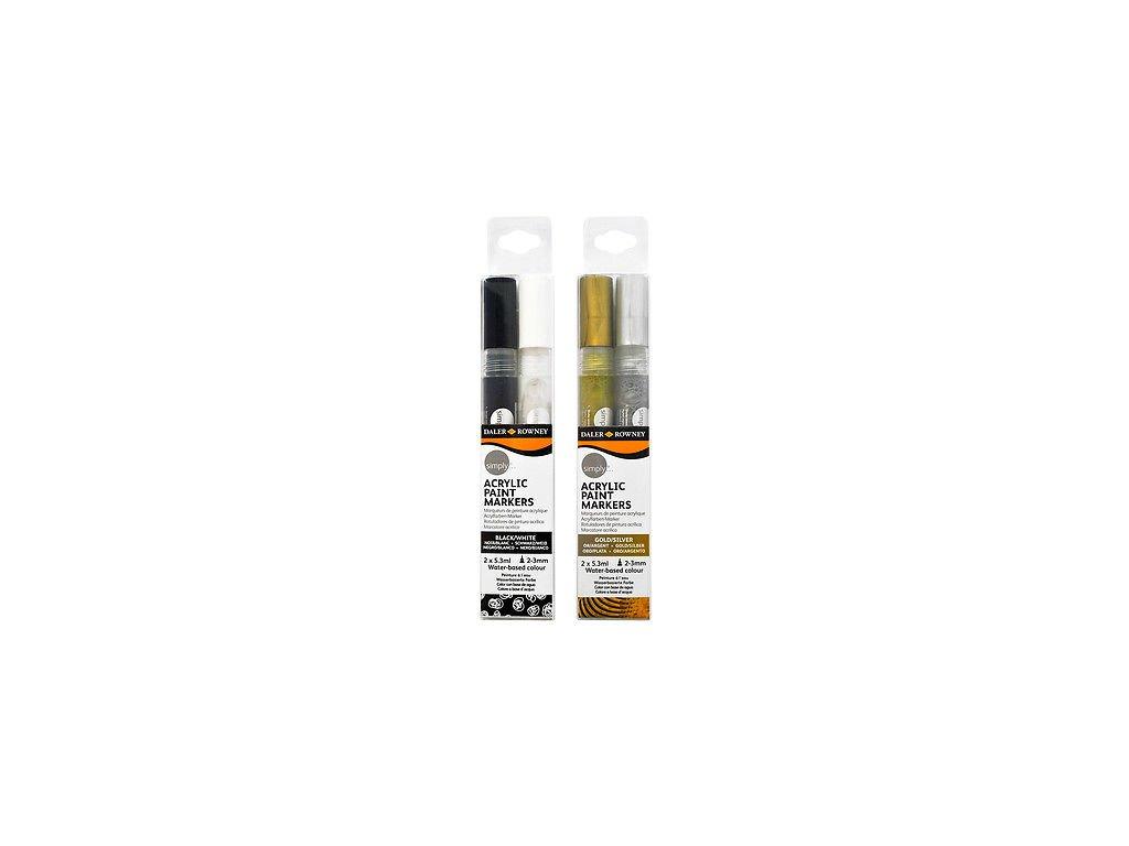 Daler-Rowney Acrylic Markers - Akrylové fixy 2-3mm