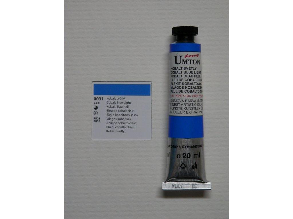 Olejová barva UMTON 20 ml - kobalt světlý 31